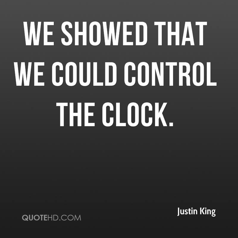 We showed that we could control the clock.