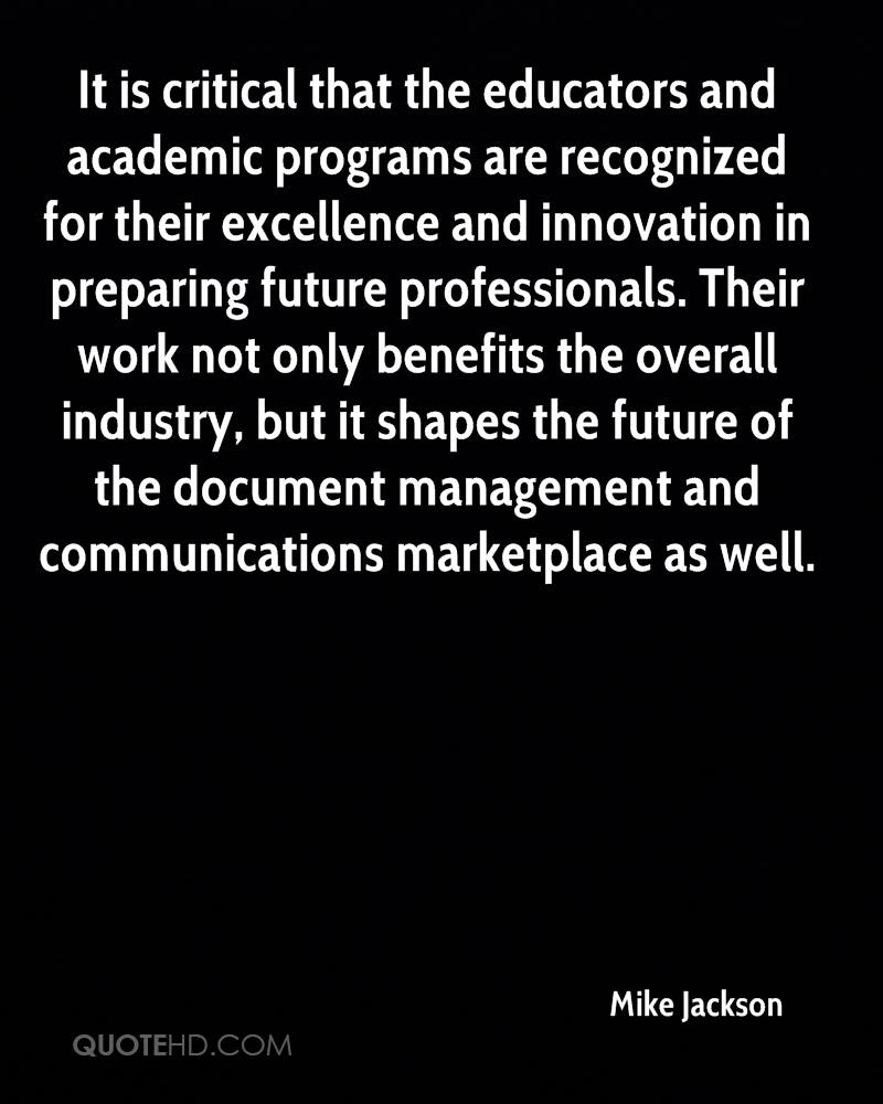 It is critical that the educators and academic programs are recognized for their excellence and innovation in preparing future professionals. Their work not only benefits the overall industry, but it shapes the future of the document management and communications marketplace as well.