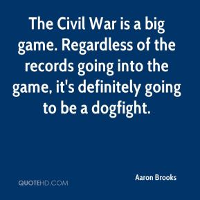 The Civil War is a big game. Regardless of the records going into the game, it's definitely going to be a dogfight.