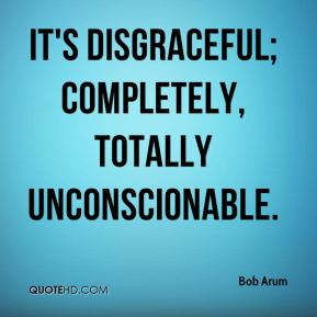 Bob Arum - It's disgraceful; completely, totally unconscionable.