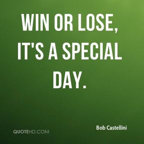 Win or lose, it's a special day.
