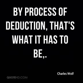 By process of deduction, that's what it has to be.