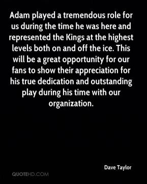 Adam played a tremendous role for us during the time he was here and represented the Kings at the highest levels both on and off the ice. This will be a great opportunity for our fans to show their appreciation for his true dedication and outstanding play during his time with our organization.