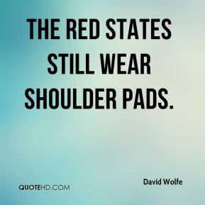 The red states still wear shoulder pads.