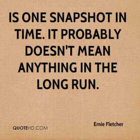 is one snapshot in time. It probably doesn't mean anything in the long run.