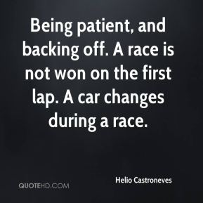 Being patient, and backing off. A race is not won on the first lap. A car changes during a race.