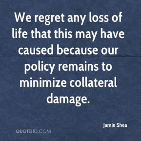 Jamie Shea - We regret any loss of life that this may have caused because our policy remains to minimize collateral damage.