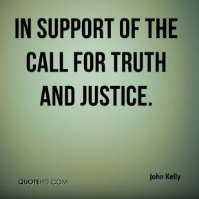 in support of the call for truth and justice.