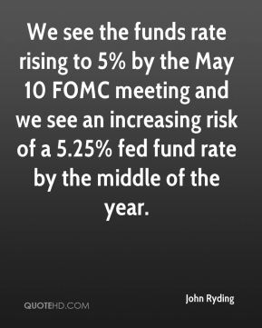 John Ryding  - We see the funds rate rising to 5% by the May 10 FOMC meeting and we see an increasing risk of a 5.25% fed fund rate by the middle of the year.