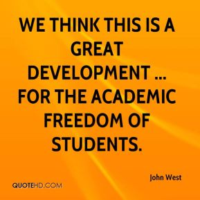 We think this is a great development ... for the academic freedom of students.