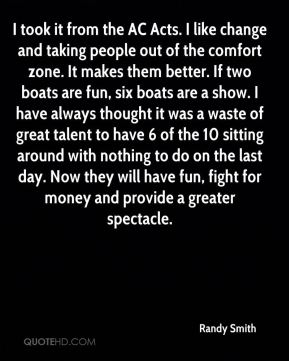 I took it from the AC Acts. I like change and taking people out of the comfort zone. It makes them better. If two boats are fun, six boats are a show. I have always thought it was a waste of great talent to have 6 of the 10 sitting around with nothing to do on the last day. Now they will have fun, fight for money and provide a greater spectacle.