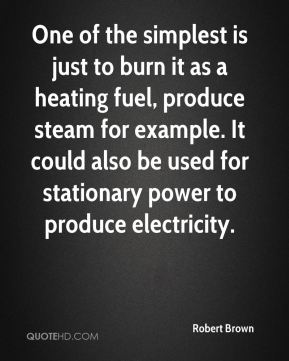 Robert Brown  - One of the simplest is just to burn it as a heating fuel, produce steam for example. It could also be used for stationary power to produce electricity.