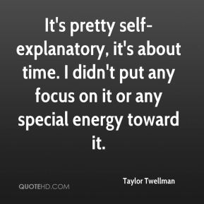Taylor Twellman  - It's pretty self-explanatory, it's about time. I didn't put any focus on it or any special energy toward it.