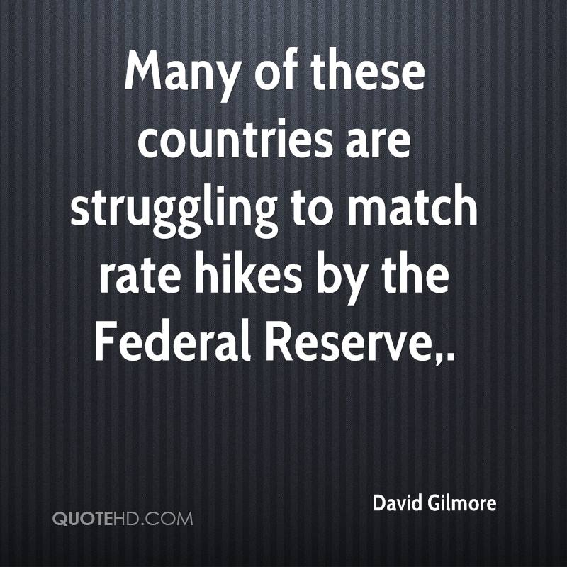 Many of these countries are struggling to match rate hikes by the Federal Reserve.