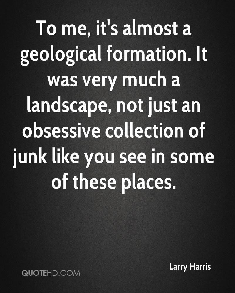To me, it's almost a geological formation. It was very much a landscape, not just an obsessive collection of junk like you see in some of these places.