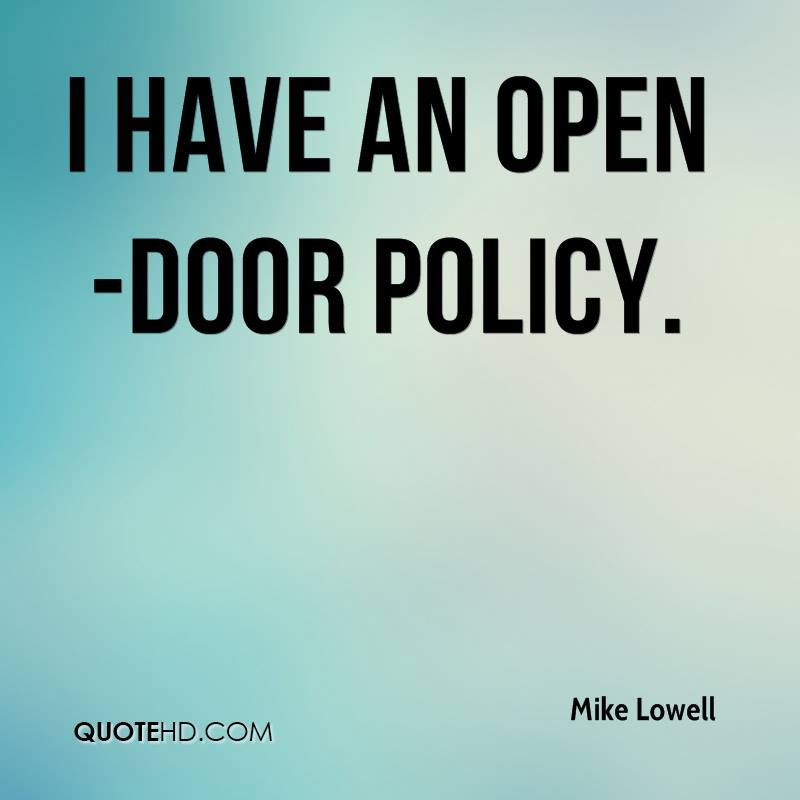 Mike Lowell Quotes QuoteHD Impressive Open Door Quotes