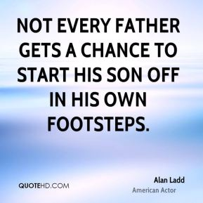 Not every father gets a chance to start his son off in his own footsteps.