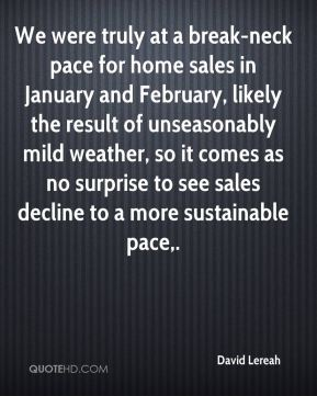 We were truly at a break-neck pace for home sales in January and February, likely the result of unseasonably mild weather, so it comes as no surprise to see sales decline to a more sustainable pace.