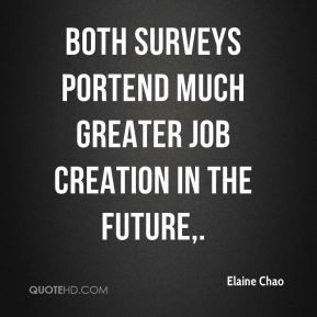 Both surveys portend much greater job creation in the future.