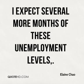 I expect several more months of these unemployment levels.