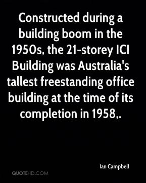Constructed during a building boom in the 1950s, the 21-storey ICI Building was Australia's tallest freestanding office building at the time of its completion in 1958.