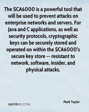 The SCA6000 is a powerful tool that will be used to prevent attacks on enterprise networks and servers. For Java and C applications, as well as security protocols, cryptographic keys can be securely stored and operated on within the SCA6000's secure key store -- resistant to network, software, insider, and physical attacks.