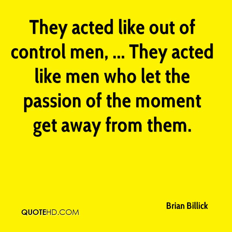 Men who like to be in control