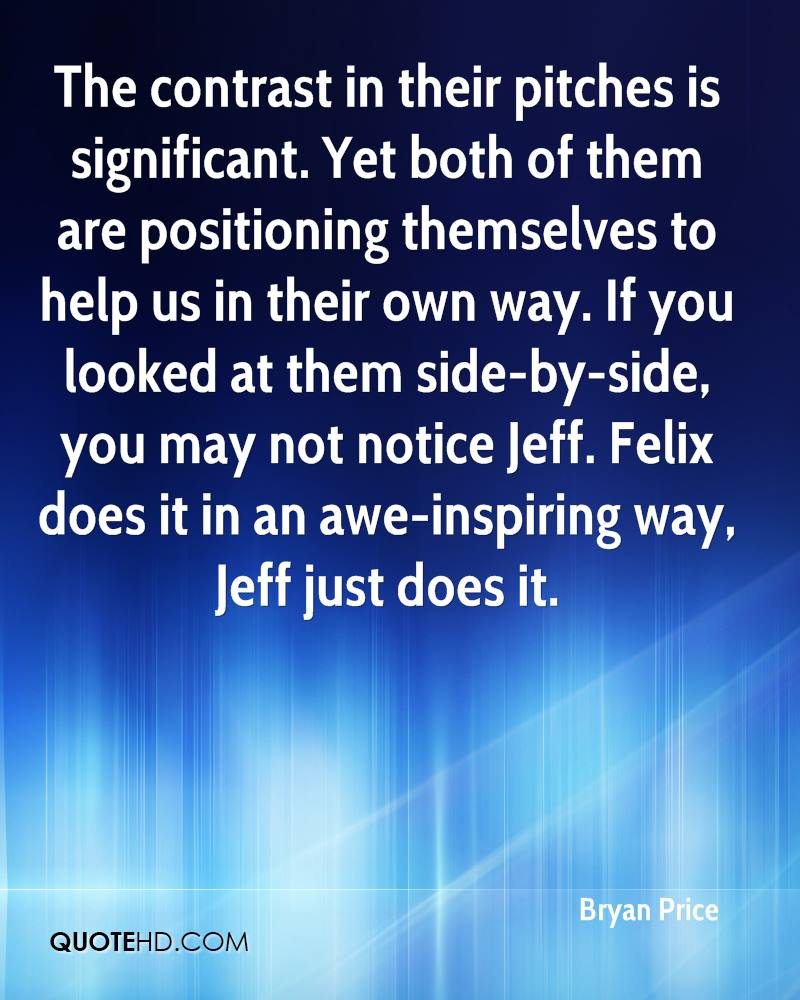The contrast in their pitches is significant. Yet both of them are positioning themselves to help us in their own way. If you looked at them side-by-side, you may not notice Jeff. Felix does it in an awe-inspiring way, Jeff just does it.