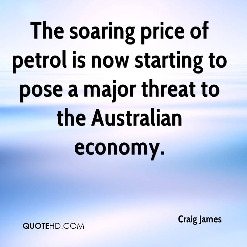 The soaring price of petrol is now starting to pose a major threat to the Australian economy.