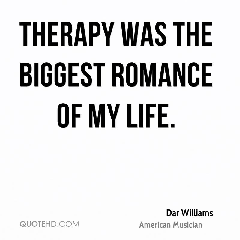Therapy was the biggest romance of my life.
