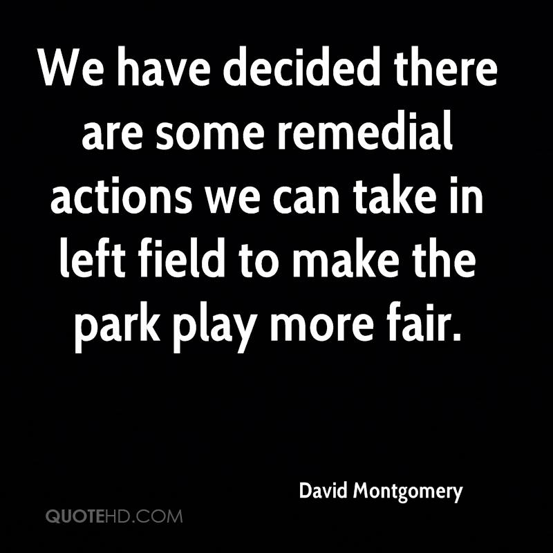 We have decided there are some remedial actions we can take in left field to make the park play more fair.