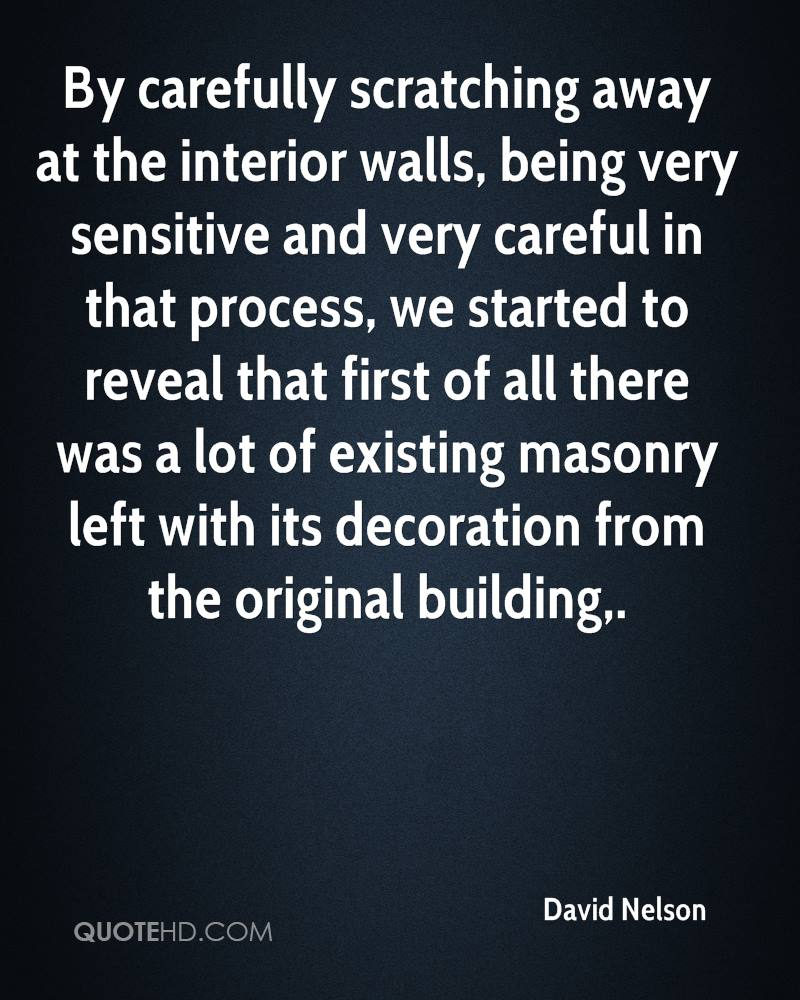 By carefully scratching away at the interior walls, being very sensitive and very careful in that process, we started to reveal that first of all there was a lot of existing masonry left with its decoration from the original building.