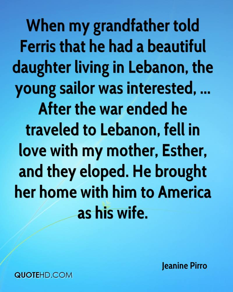 I Love My Grandpa Quotes Jeanine Pirro Wife Quotes  Quotehd