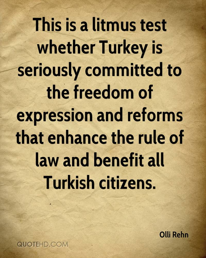 This is a litmus test whether Turkey is seriously committed to the freedom of expression and reforms that enhance the rule of law and benefit all Turkish citizens.
