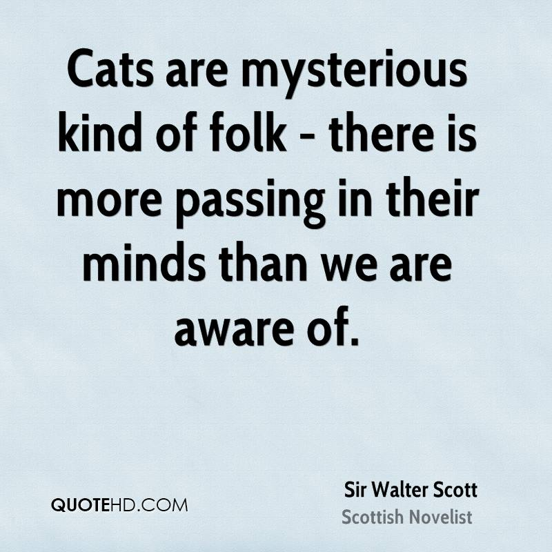 Cats are mysterious kind of folk - there is more passing in their minds than we are aware of.