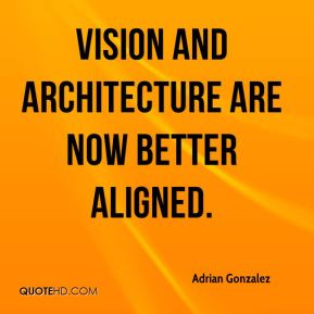 Adrian Gonzalez - Vision and architecture are now better aligned.