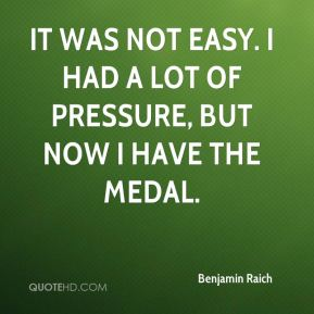 Benjamin Raich - It was not easy. I had a lot of pressure, but now I have the medal.