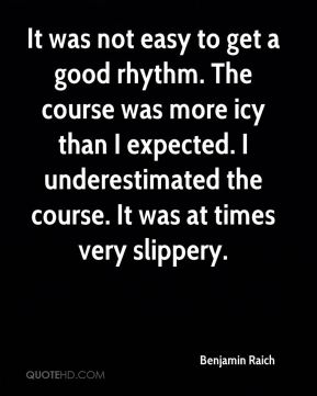 It was not easy to get a good rhythm. The course was more icy than I expected. I underestimated the course. It was at times very slippery.