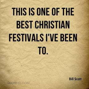 This is one of the best Christian festivals I've been to.