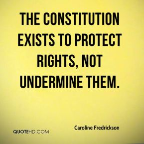 Caroline Fredrickson - The Constitution exists to protect rights, not undermine them.