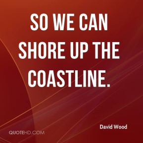 David Wood - so we can shore up the coastline.