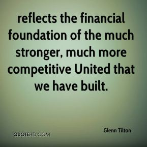 reflects the financial foundation of the much stronger, much more competitive United that we have built.