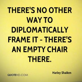 There's no other way to diplomatically frame it - there's an empty chair there.