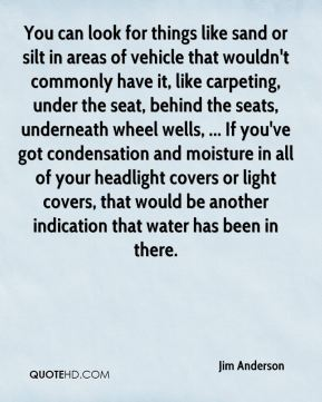 You can look for things like sand or silt in areas of vehicle that wouldn't commonly have it, like carpeting, under the seat, behind the seats, underneath wheel wells, ... If you've got condensation and moisture in all of your headlight covers or light covers, that would be another indication that water has been in there.