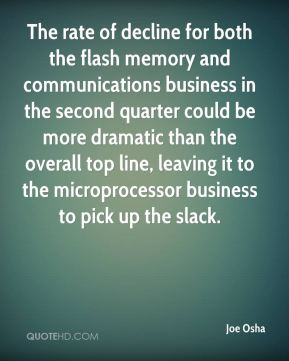 Joe Osha  - The rate of decline for both the flash memory and communications business in the second quarter could be more dramatic than the overall top line, leaving it to the microprocessor business to pick up the slack.