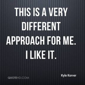 Kyle Korver  - This is a very different approach for me. I like it.
