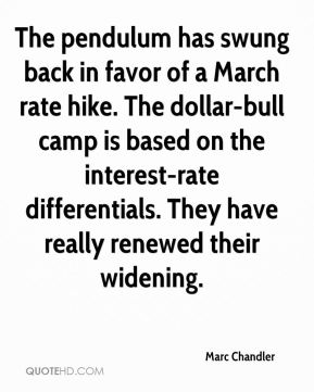 Marc Chandler  - The pendulum has swung back in favor of a March rate hike. The dollar-bull camp is based on the interest-rate differentials. They have really renewed their widening.