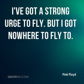 I've got a strong urge to fly. But I got nowhere to fly to.