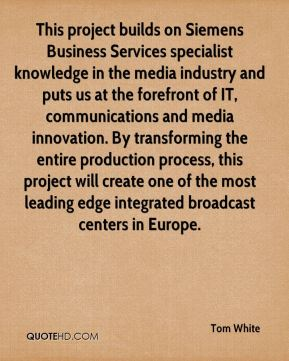This project builds on Siemens Business Services specialist knowledge in the media industry and puts us at the forefront of IT, communications and media innovation. By transforming the entire production process, this project will create one of the most leading edge integrated broadcast centers in Europe.