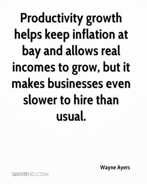 Productivity growth helps keep inflation at bay and allows real incomes to grow, but it makes businesses even slower to hire than usual.